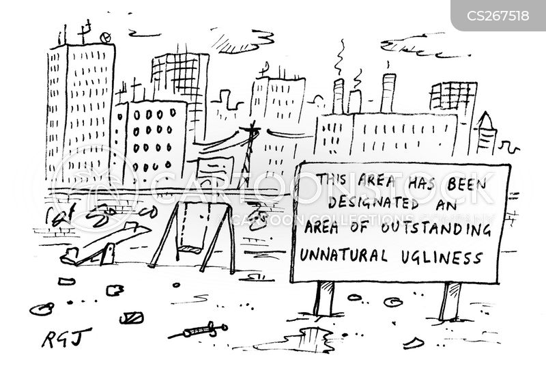 urban area cartoon