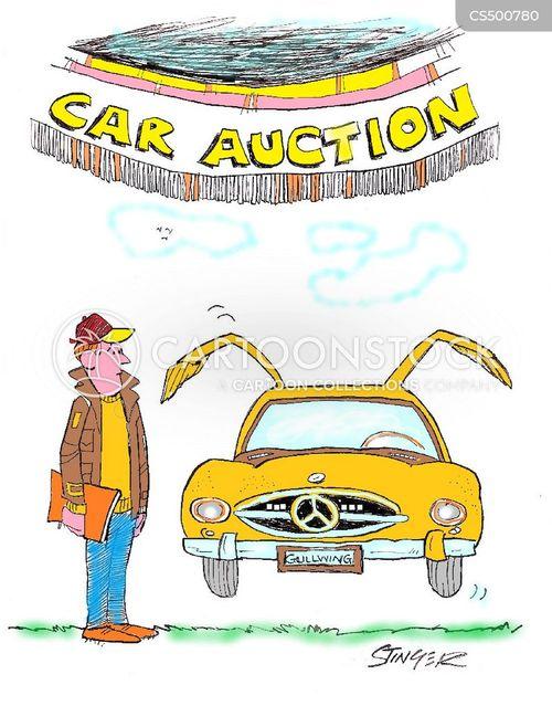 car auctions cartoon