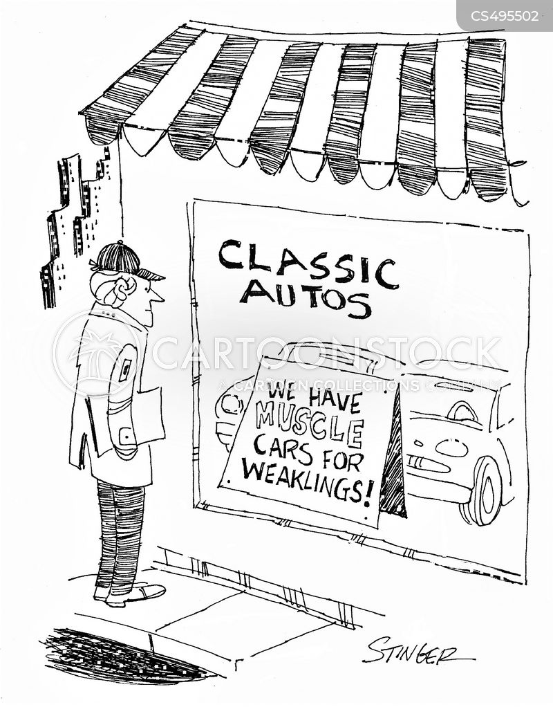muscle cars cartoon