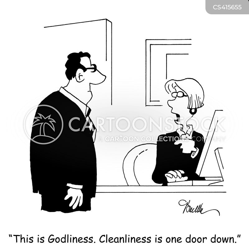 cleanliness is next to godliness cartoon