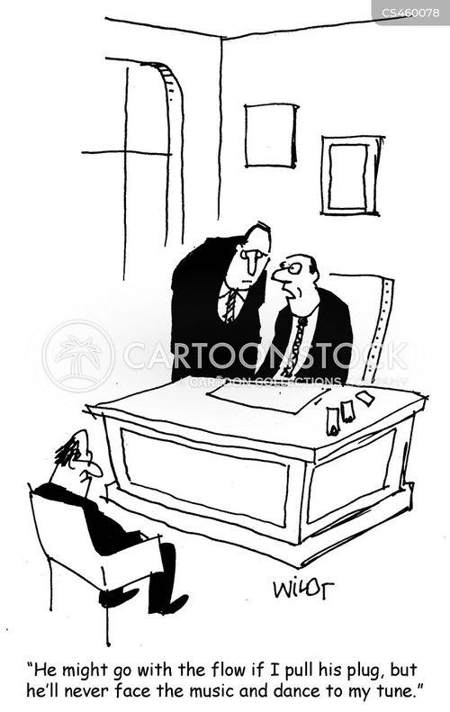 corporate negotiations cartoon