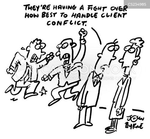 disputing cartoon