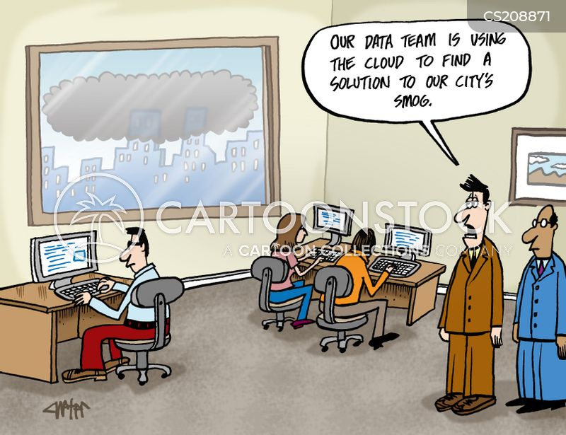 cloud networks cartoon