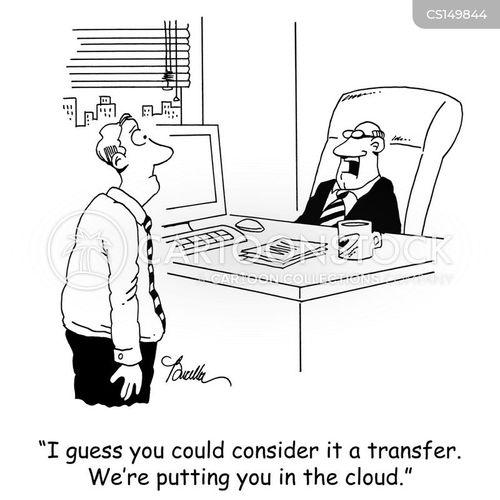 job transfers cartoon