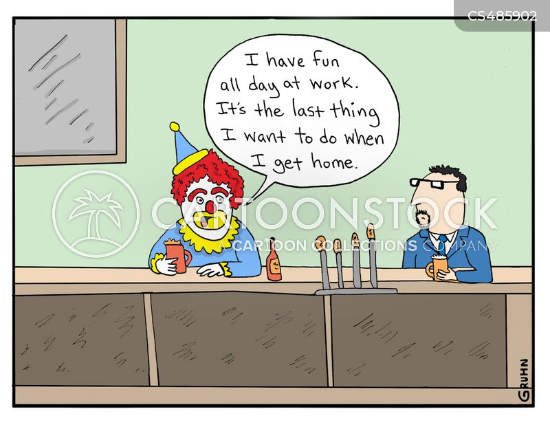 clocked off cartoon