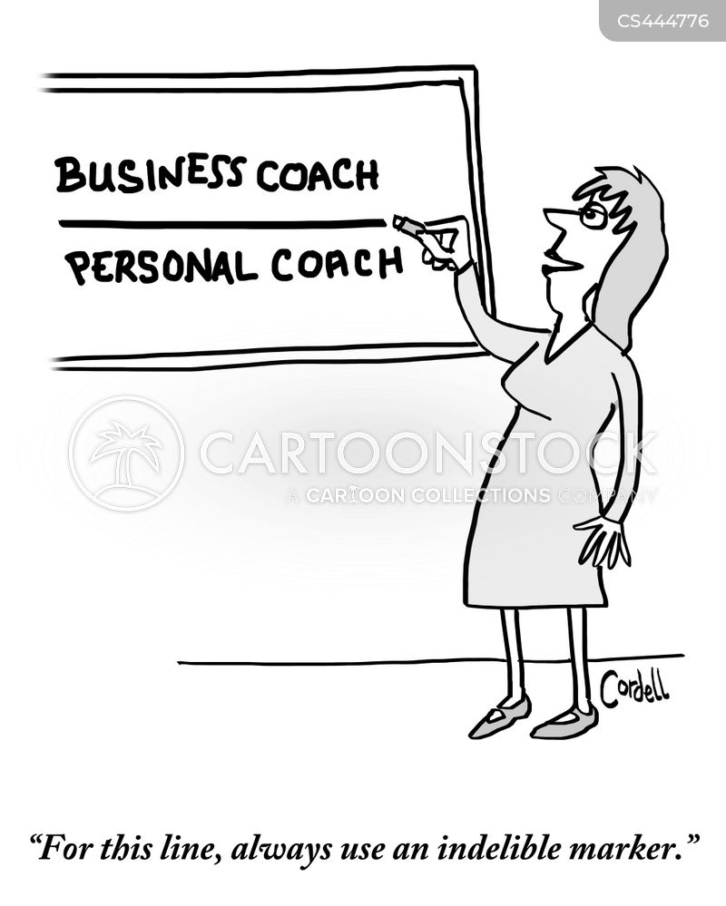 business coach cartoon