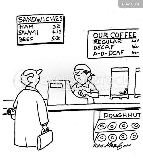 decaf coffee cartoon