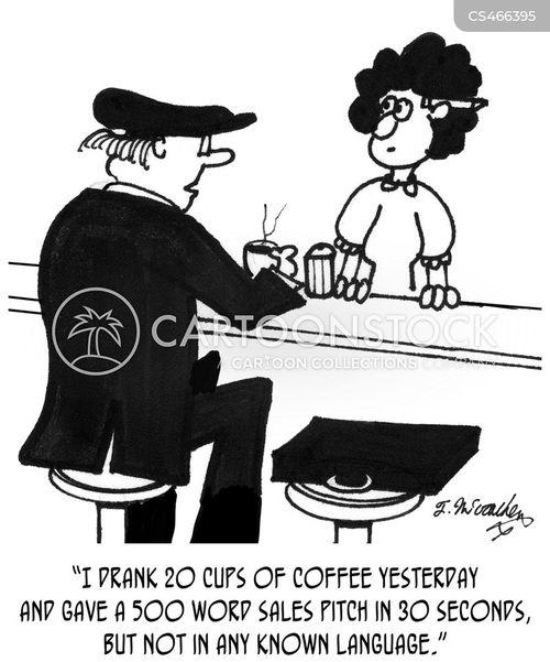over-caffeinated cartoon