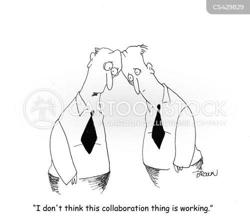 collaborate cartoon