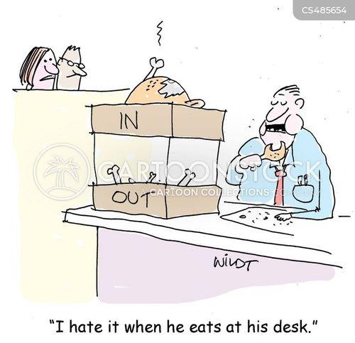 office etiquette cartoon