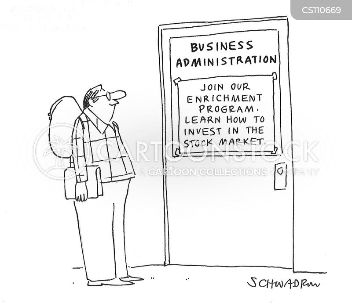 stock and shares cartoon