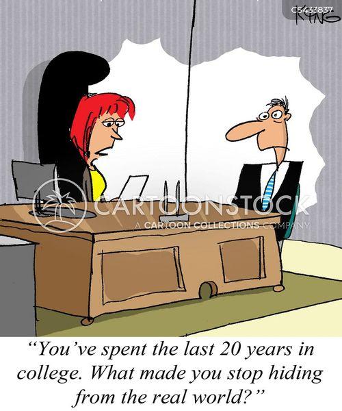 professional students cartoon