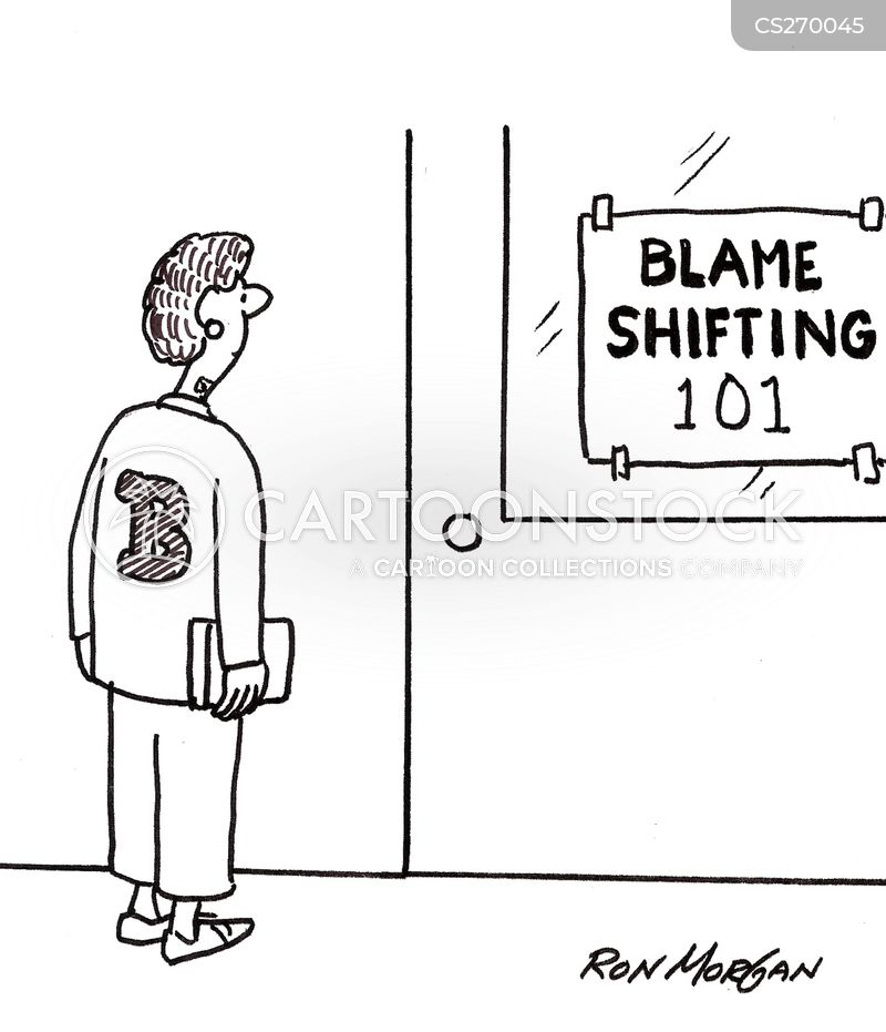 blame shifting cartoon
