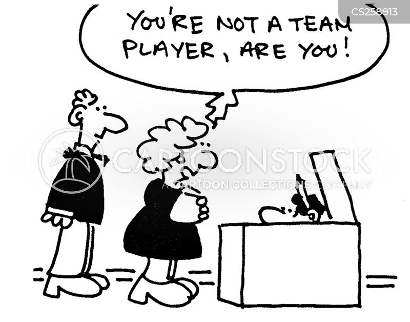 team worker cartoon