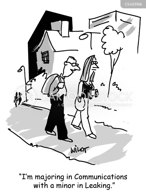 communications degree cartoon