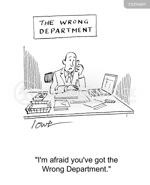 wrong department cartoon