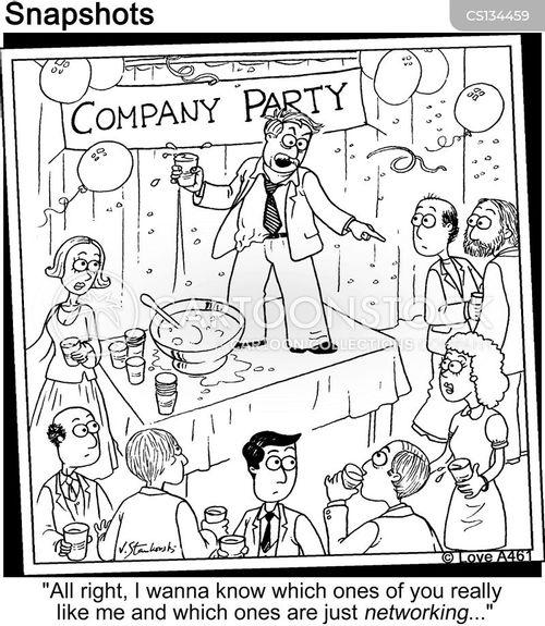 company party cartoon