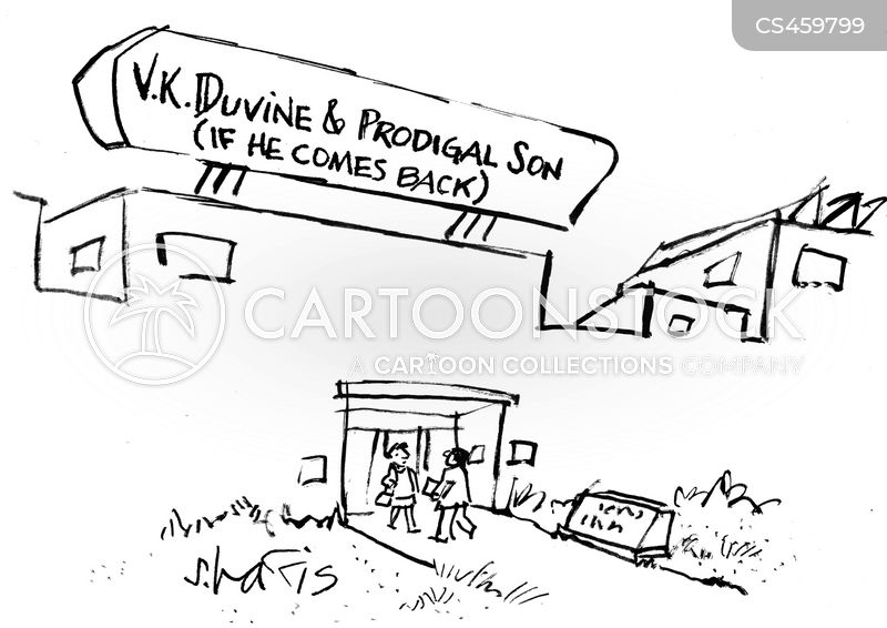 company sign cartoon