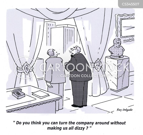 company takeover cartoon