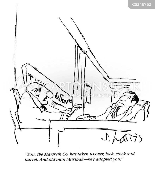 hostile takovers cartoon