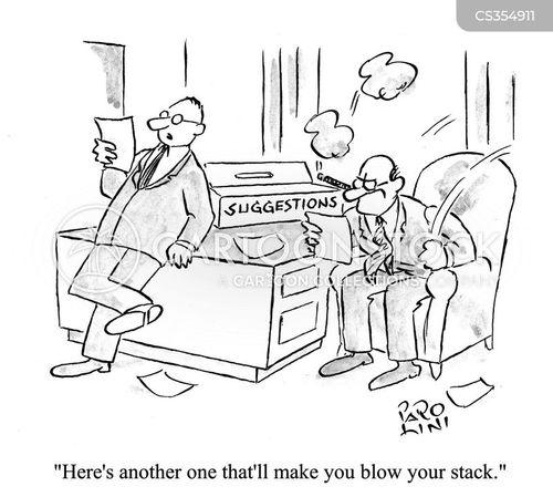 blow stack cartoon