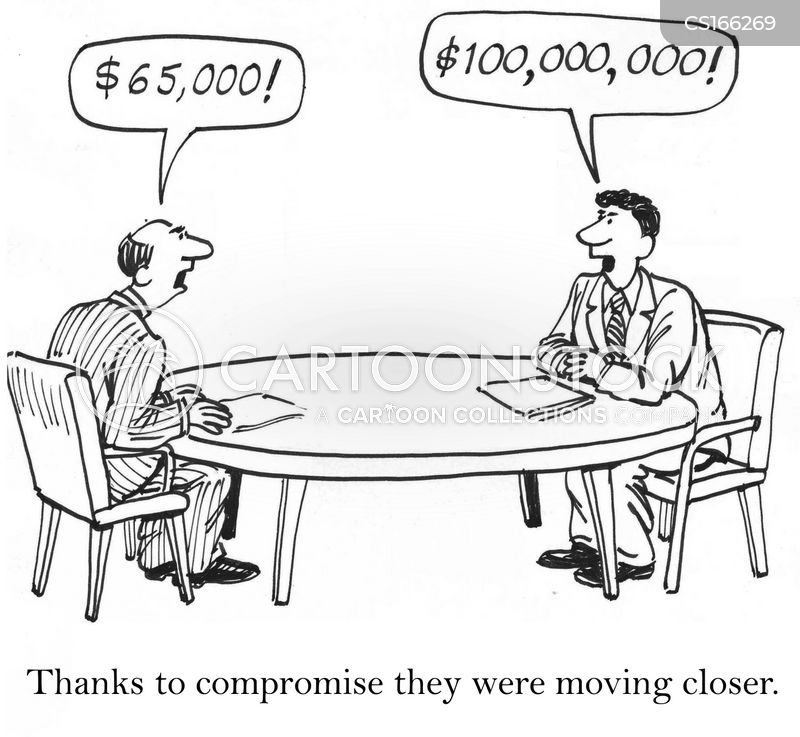 Image result for negotiation cartoon