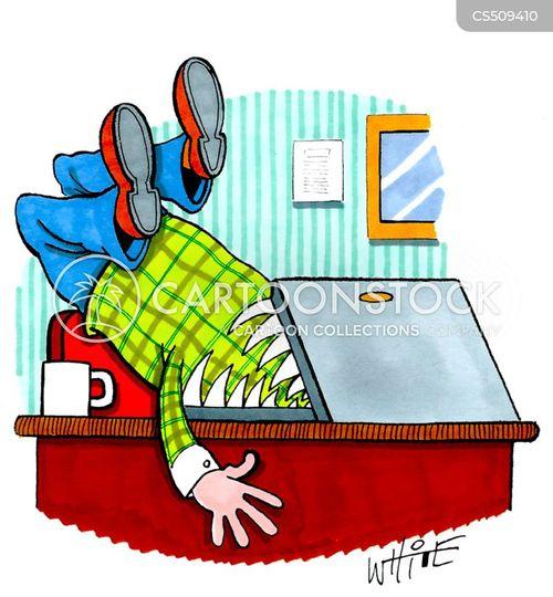 tech addict cartoon
