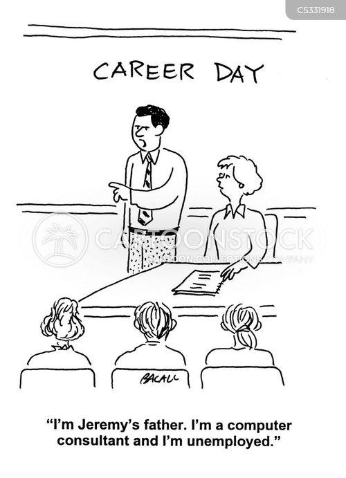 career day cartoon