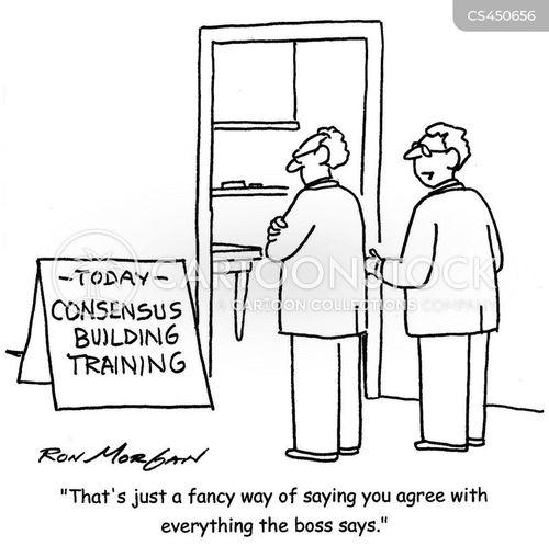 consensus cartoon