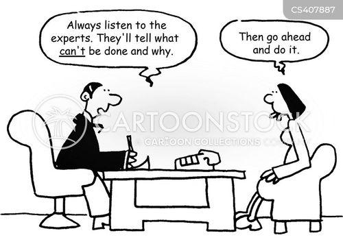 expert advice cartoon