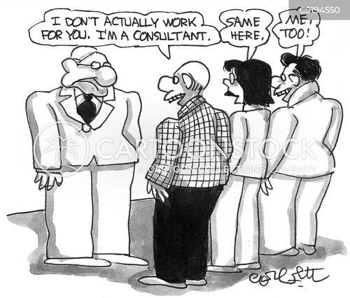 self employed cartoon