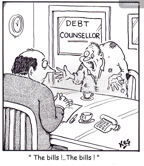 debt counsellors cartoon