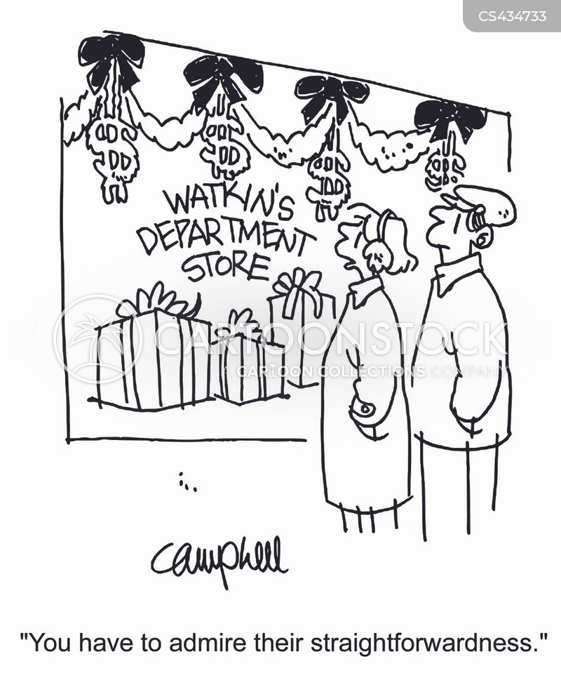 consumer holiday cartoon