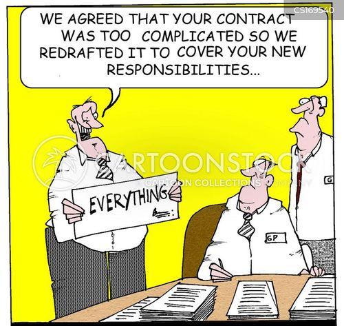 responsibilities cartoon