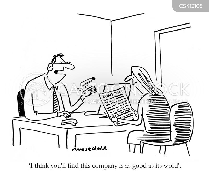 Employment Contract Cartoons And Comics - Funny Pictures From