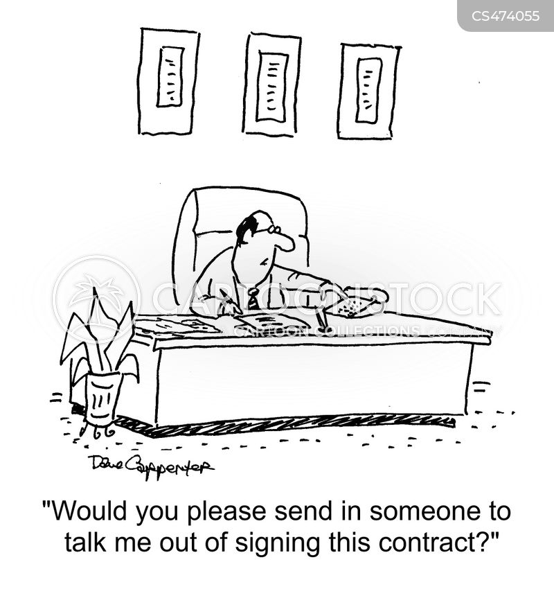 business contract cartoon
