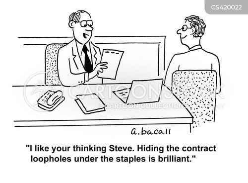 legal documents cartoon