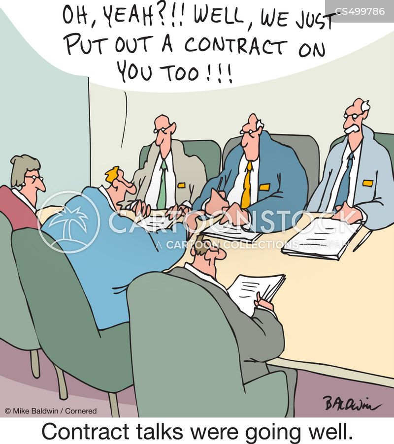 working out a deal cartoon