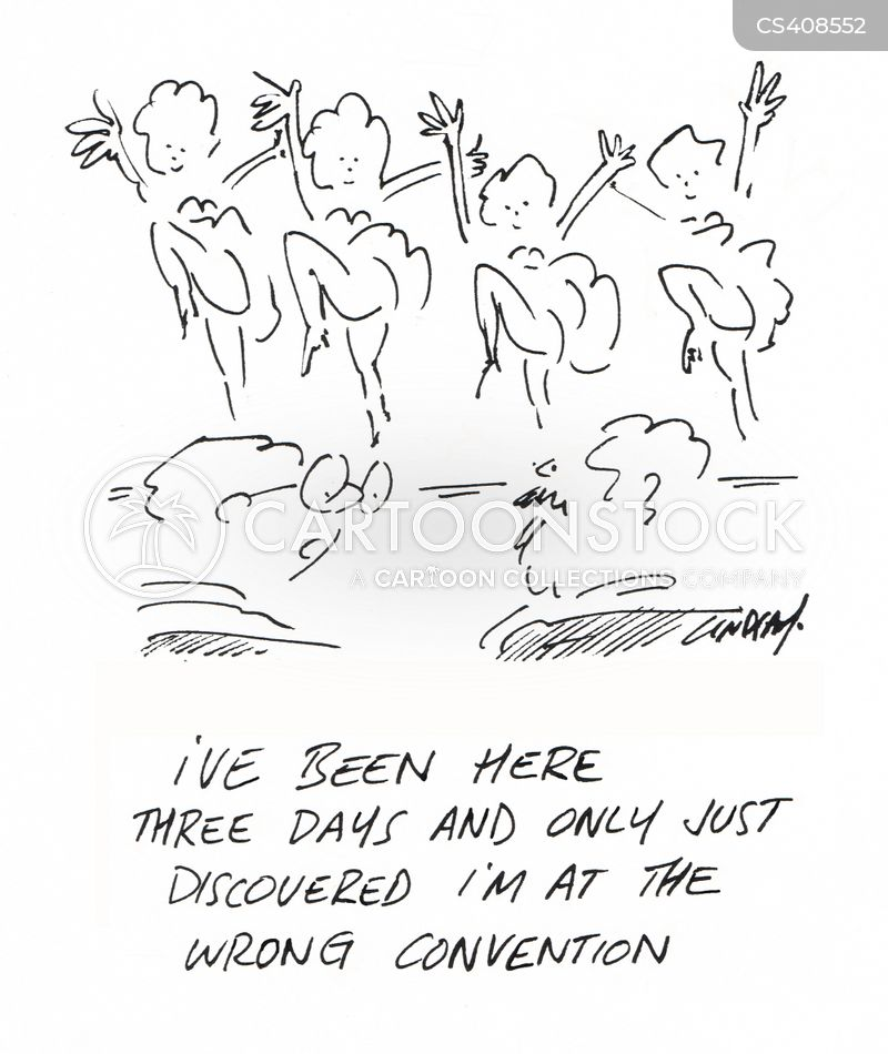 business conventions cartoon