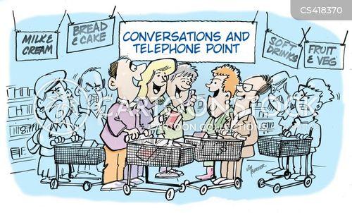 shopping aisle cartoon