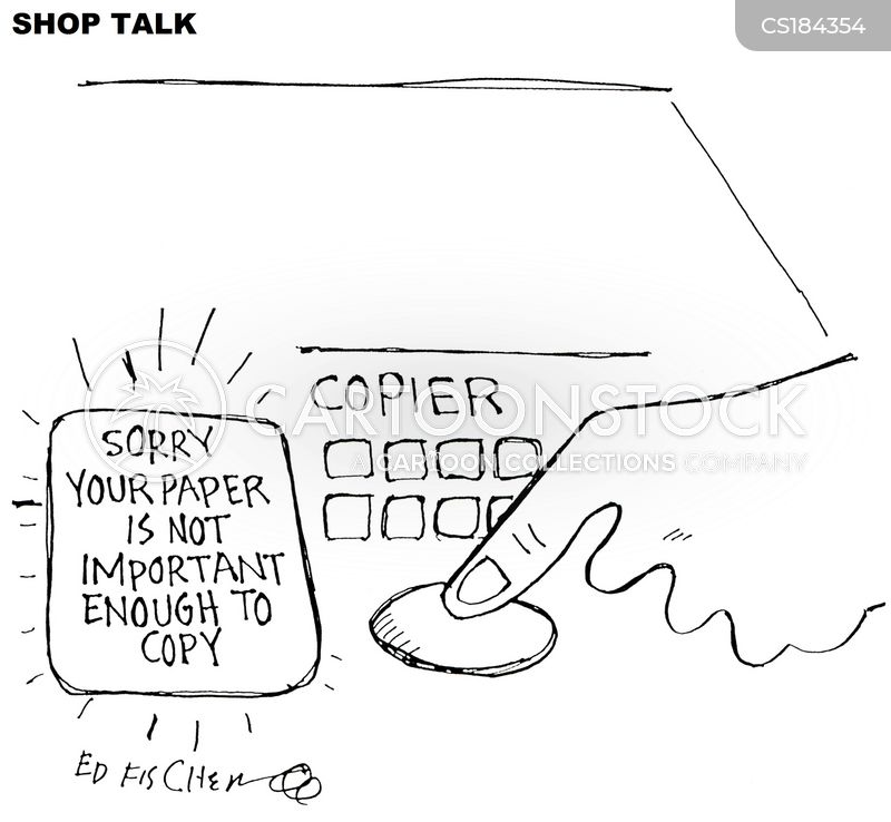 office equipment cartoon