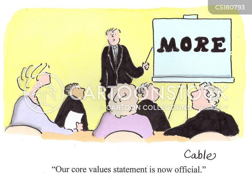 core values cartoon