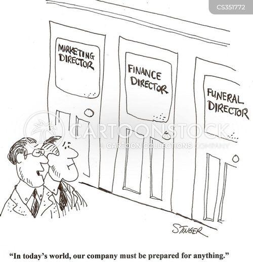 financial director cartoon