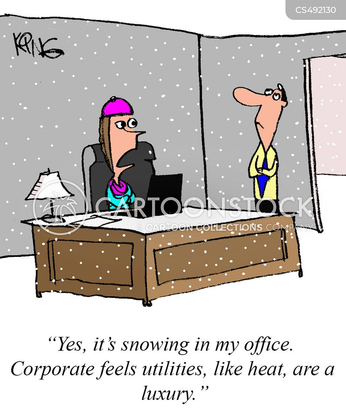 air conditioning system cartoon