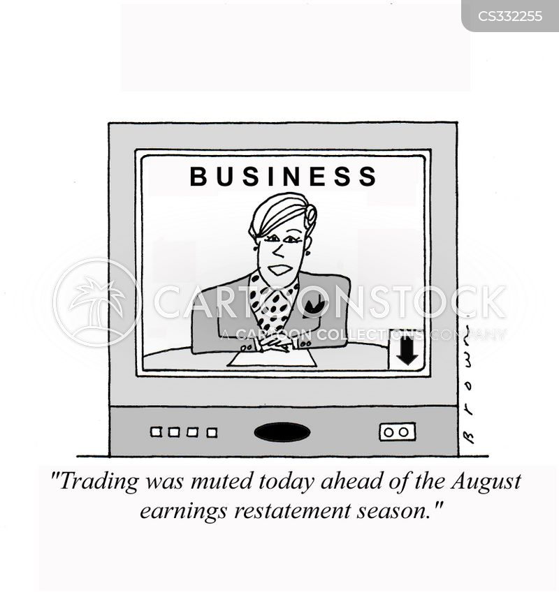 corporate earnings cartoon