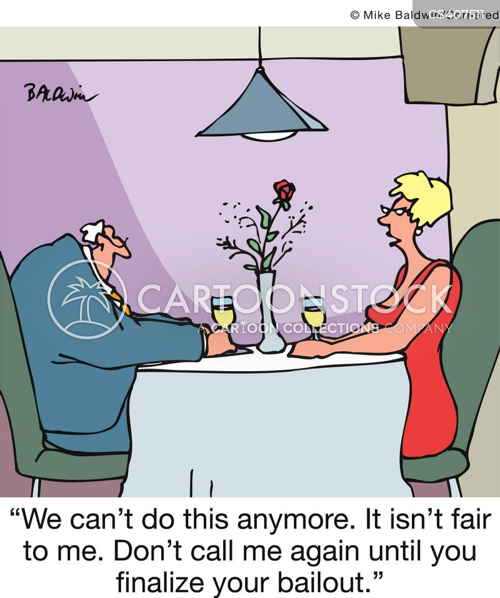 bailing out cartoon