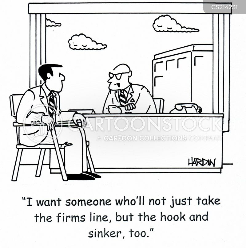 corporate line cartoon