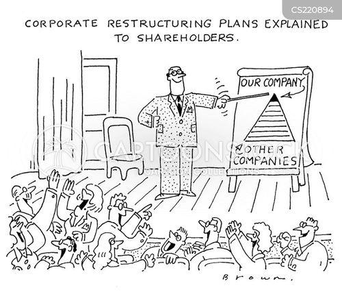 corporate restructuring cartoon