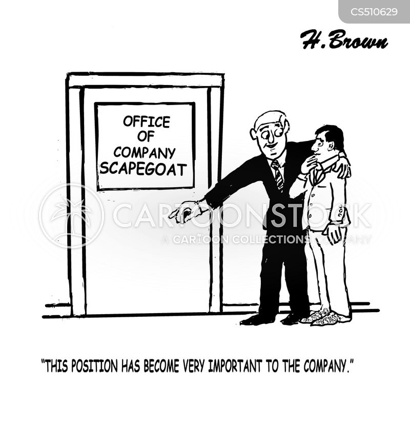 company scapegoats cartoon