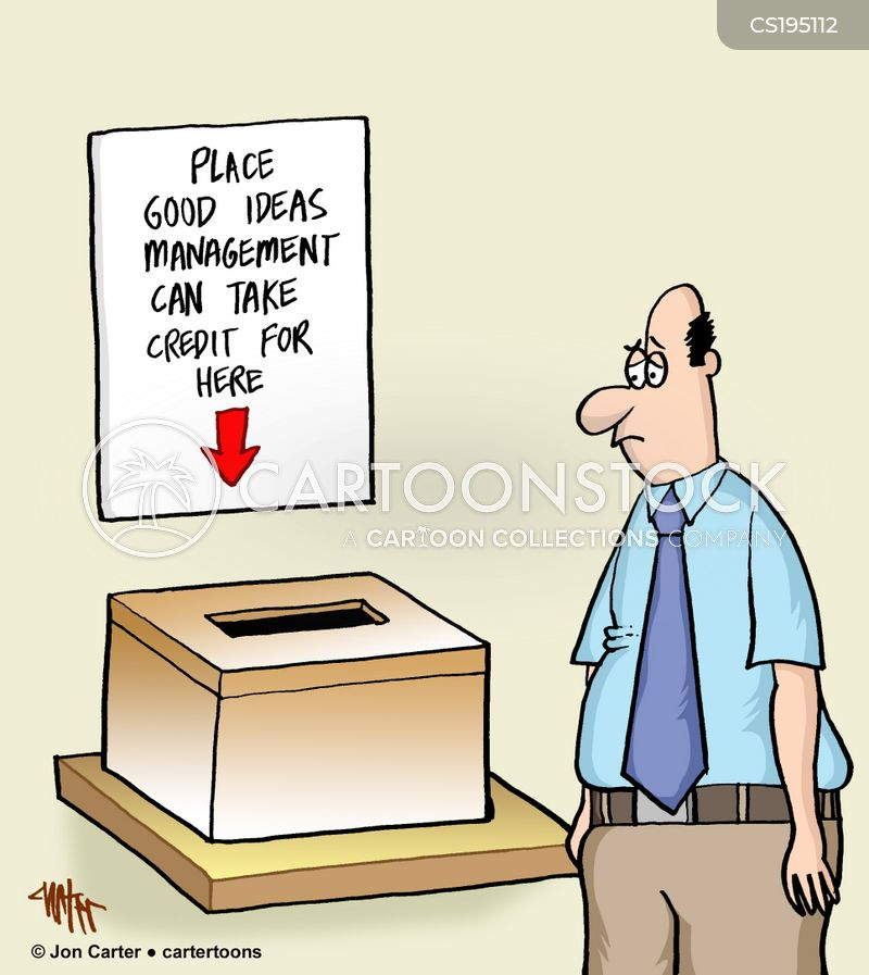 taking credit cartoon